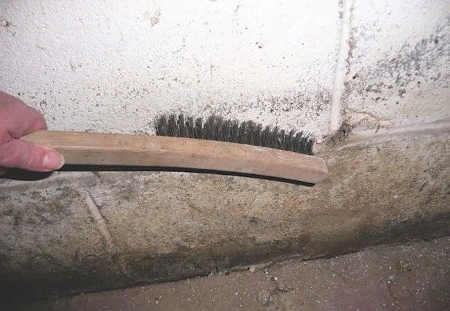 Cleaning Basement Walls