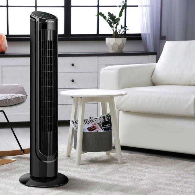 Best Value Tower Fan: COSTWAY 40-inch LCD Tower Fan