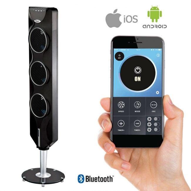 Best Tower Fan for Tech: Ozeri 3x 44-inch Tower Fan with Bluetooth