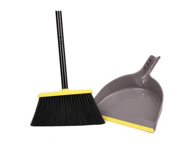 The Best Broom Option: TreeLen Angle Broom with Dustpan