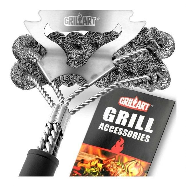 The Best Grill Brushes Option: Grill Art Bristle-Free Brush & Scraper