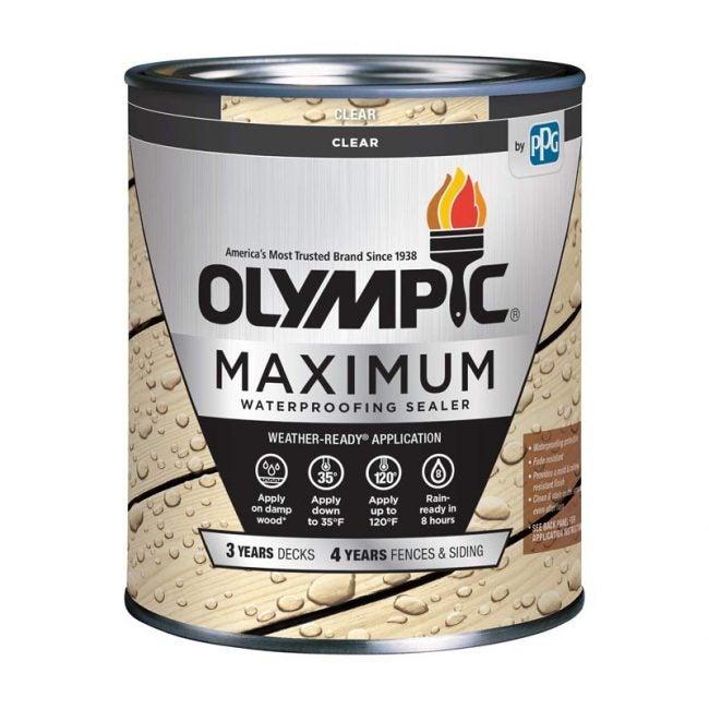 The Best Deck Sealer Option: Olympic Maximum Waterproofing Sealant