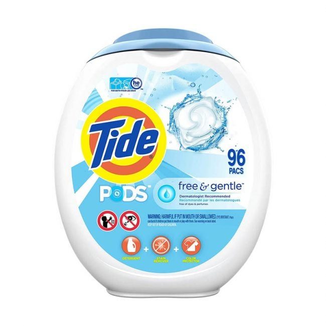 The Best Laundry Detergant Option: Tide PODS Free and Gentle Laundry Detergent