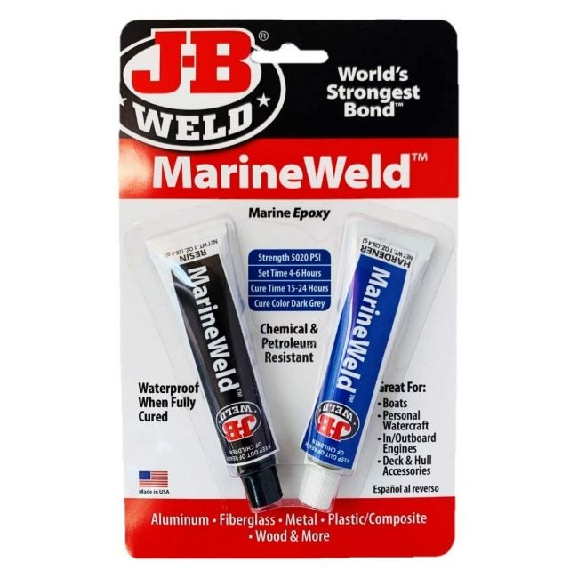 The Best Glue for Plastic Option: J-B Weld 8272 MarineWeld Marine Epoxy