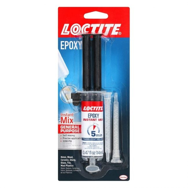 The Best Glue for Plastic Option: Loctite Epoxy Five-Minute Instant Mix