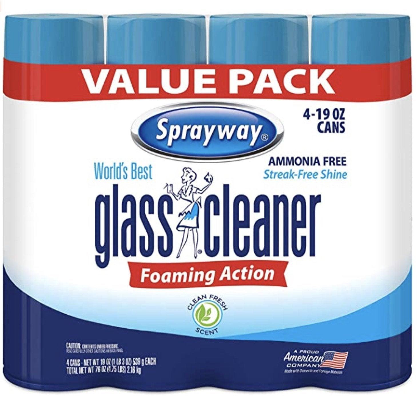Best Ammonia-Free Foam Glass Cleaner: Sprayway