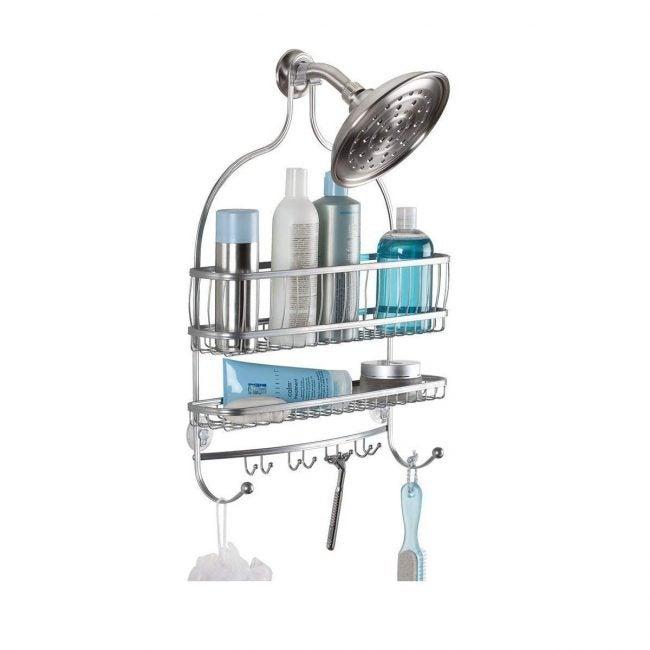 Best Shower Caddies Options: idesign york wire metal hanging